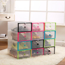 New Arrival Plastic Shoebox Multifunctional  Shoe Boxes Transparent Crystal Household DIY Clamshell Storage Home Organization