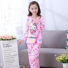 New Listing 2017 Children Clothing Autumn Winter Girls Baby Pajamas Cotton Princess Nightgown Kids Home Cltoh Girl Sleepwear Set