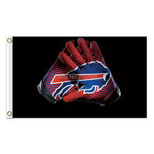 Gloves Design Buffalo Bills Flag Team Colors Super Bowl Champions 3 X 5ft Banner Custom Bills Flags Banner Stand Colours(China)