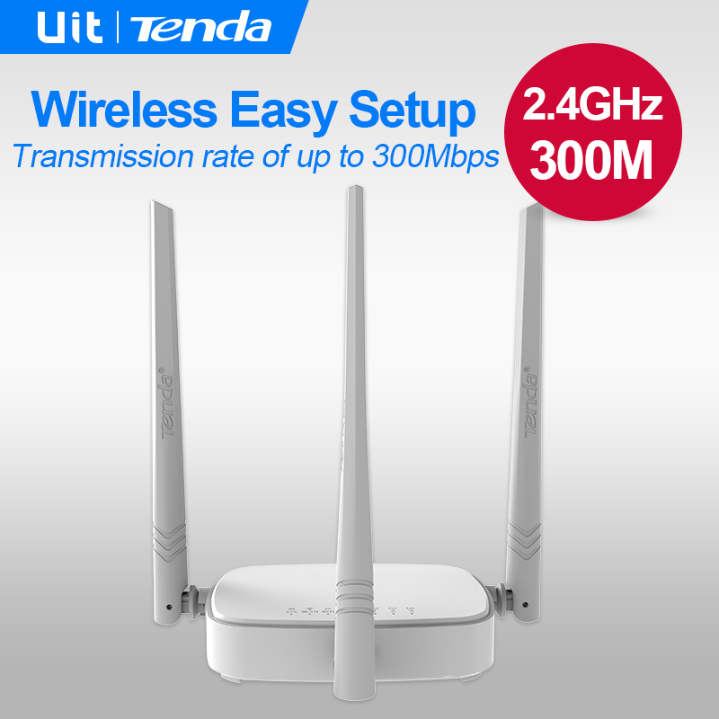 Tenda N318 300Mbps Wireless WiFi Router Wi-Fi Repeater, Home Networking Broadband AP, 1WAN+3 LAN Ports , Multi language Firmware(China)