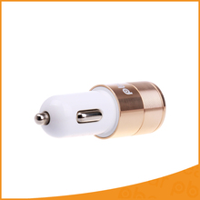 Dual Port USB Metal Alloy Car Charger 2 Port USB Car Adapter 5V 2.4A Mini Car Charger for Iphone 6S xiaomi samsung more