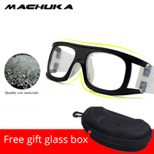 MACHUKA Anti Down Basketball Glasses Sport Resistant Frame Eyewear Goggles Professional Basketball Training with Spectacle case