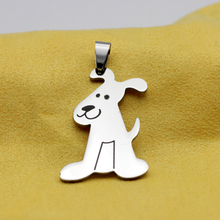 N404 Fashion jewelry named or personalized Lovely stainless steel dog brand necklace pendant Contains chain