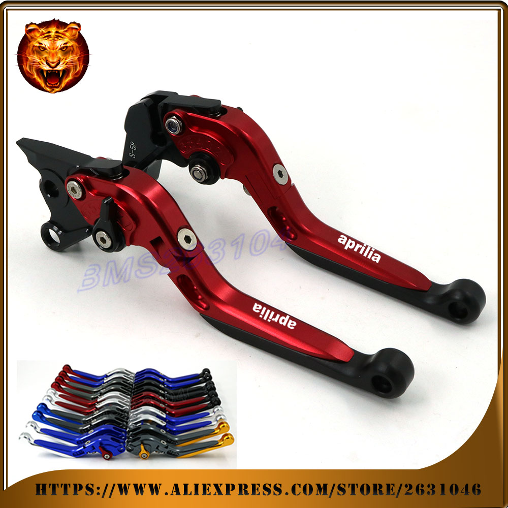 Adjustable Folding Extendable Brake Clutch Lever For APRILIA TUONO V4R 2011 2012 2013 2014 CNC LOGO  Free shipping Motorcycle <br>