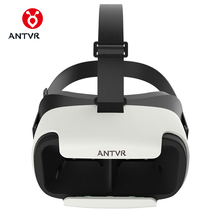 ANTVR Loop distortion-free box 3D VR Glasses VR Helmet Headset Head-mounted for 5-6 inch Android IOS iPhone Samsung Xiaomi Phone(China)
