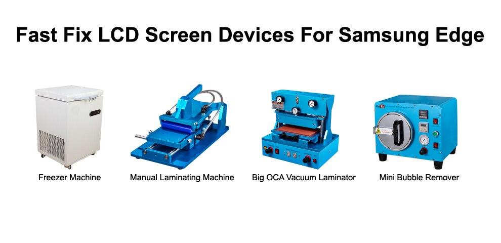 lcd repair machines for cracked screen refurbish iphone 7 7 plus samsung s6 edge s7 edge cracked glass repair jiutu