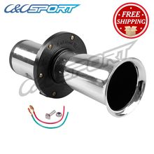 Hot Selling  12v Loud Classic Chrome Air Horn For Car Van Truck Train RV Auto Boat Alarm Horn