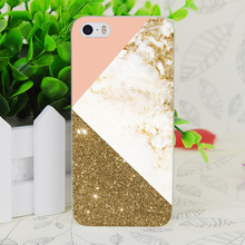 C4028 Gold Marble Collage Transparent Hard Thin Case Skin Cover For Apple IPhone 4 4S 4G 5 5G 5S SE 5C 6 6S Plus