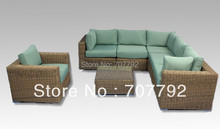 2017 Novel Tinamba 7pc Modular Lounge home furniture rattan corner Sofa Set(China)