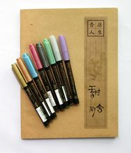 ZIG Kuretake Metallic Watercolor Brush Pens FUDEBIYORI Copper Silver Gold Japan