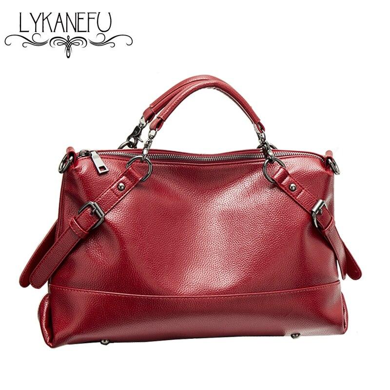 LYKANEFU Brand PU Leather Handbags Women Fashion Hobo Shoulder Bags Womens Large Tote Bags Ladies Purse Handbag Bolsos<br>