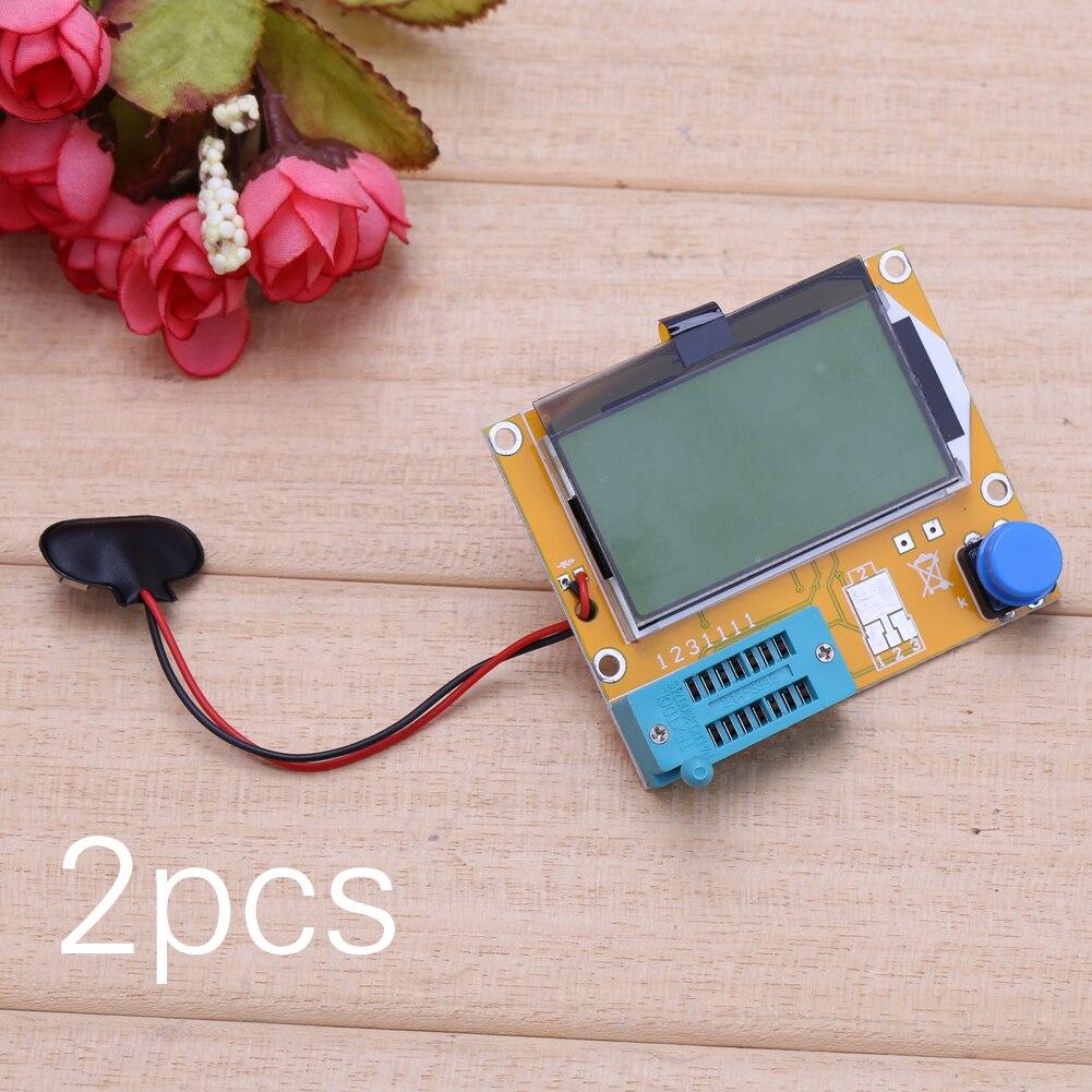 2X LCR T4 ESR Combo Digital Transistor Tester Diode Triode Capacitance indutor resistor MOS/PNP/NPN + Teste clipe 4