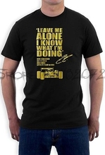 LEAVE ME ALONE I KNOW WHAT I'M DOING T-Shirt Lotus F1 KIMI RAIKKONEN car race(China)