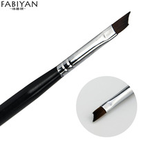 Nail Art French Oblique Half Moon Smile Pen Brush Black Drawing Painting Design Tips Acrylic DIY UV Gel Polish Tools Manicure