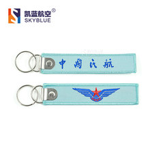 China Airline Travel Luggage Tag Sky Blue Cloth    Pilot Bag Tag Aviation Lover Airman Gift