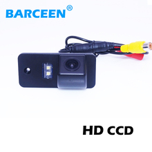 Colorful night vision car rear reversing camera bring ccd image and car parking line for Audi A3 A4 A6 A8 Q5 Q7 A6L(China)