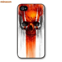 minason Cute Halloween Colorful Skull Cover case for iphone 4 4s 5 5s 5c 6 6s 7 8 plus samsung galaxy S5 S6 Note 2 H2456