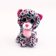 Ty Beanie Boos Original Big Eyes Plush Toy Doll 10 - 15cm Spots Leopard TY Baby For Kids Brithday Gifts(China)