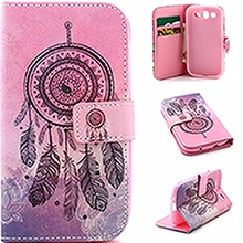 Wallet PU Leather Phone Cover Case For Samsung S3 9300/S4 9500/S6 9600 Flip Shell Back Cover&Card Holder Stand Cell Phone Case