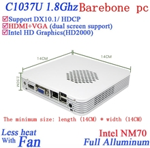 Promotional New arrival small computer with  Celeron 1037U dual core 1.8GHZ CPU Intel HD Graphics mini pc Barebone pc