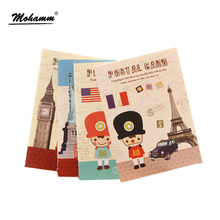 1 Pics 8.5 X 12cm Flag France Uk United States Cute Notebook Note Book School Supplies Agenda Kawaii(China)