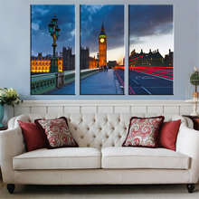 New No Frame Building Oil Painting Modern Home Wall Decor Canvas Picture A4 Art HD Print Painting on Canvas Art Works 5 Piece