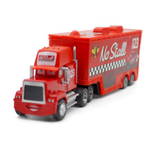 Pixar Cars Mack Uncle No.123 No Stall Racer's Truck Metal Diecast Truck Combination 1:43 Loose Toy  for Children