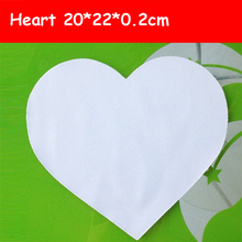 Free Shipping 10pc/lot 20*22*0.2cm Blank Sublimation Pads Heart Shape High Quality DIY Printing Transfer Mouse Pad(China)