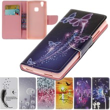 For Case Doogee X5 Max X5 Leather Wallet Cover Soft Silicone Shell Cases Capinha Coque Etui Funda Dreaming Butterfly Feather
