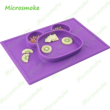 Creative Integrated Custom Silicone Table Mat One piece Square shape Cotton Placemat with Gift box package for kids