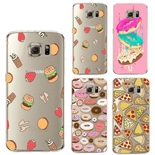 Pizza Silicone Case for iPhone X 8 7 4 4S 5 5S SE 5C 6 6S Plus for Samsung Galaxy S5 S6 S7 Edge S8 Plus J3 J5 J7 A3 A5 2016 2017