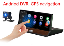 Full HD 7inch Touch Car DVR GPS Android 4.4 Dual Camera WiFi Auto Camera Car Center Console rear view car camera