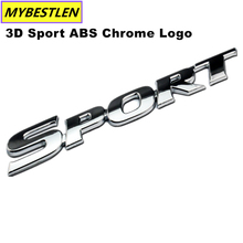 New Car Styling 3D Sport ABS Chrome Logo Car Sticker Emblem Badge Decal Auto Accessories Universal fit For Toyota Highlande(China)