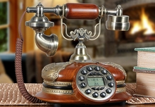 Fashion antique telephone household vintage american fitted old home phone GBD-251C(China)