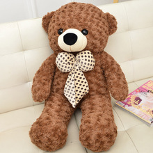 lovely bear plush toy large 100cm bowtie bear soft throw pillow, Christmas birthday gift F021(China)