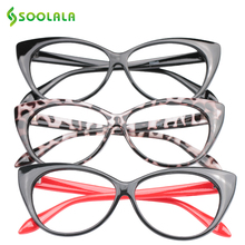 SOOLALA 3pcs Cat Eye Reading Glasses for Women Reading Glasses +0.5 0.75 1.0 1.25 1.5 1.75 2.0 2.5 3.0 3.5 4.0 Gafas De Lectura(China)