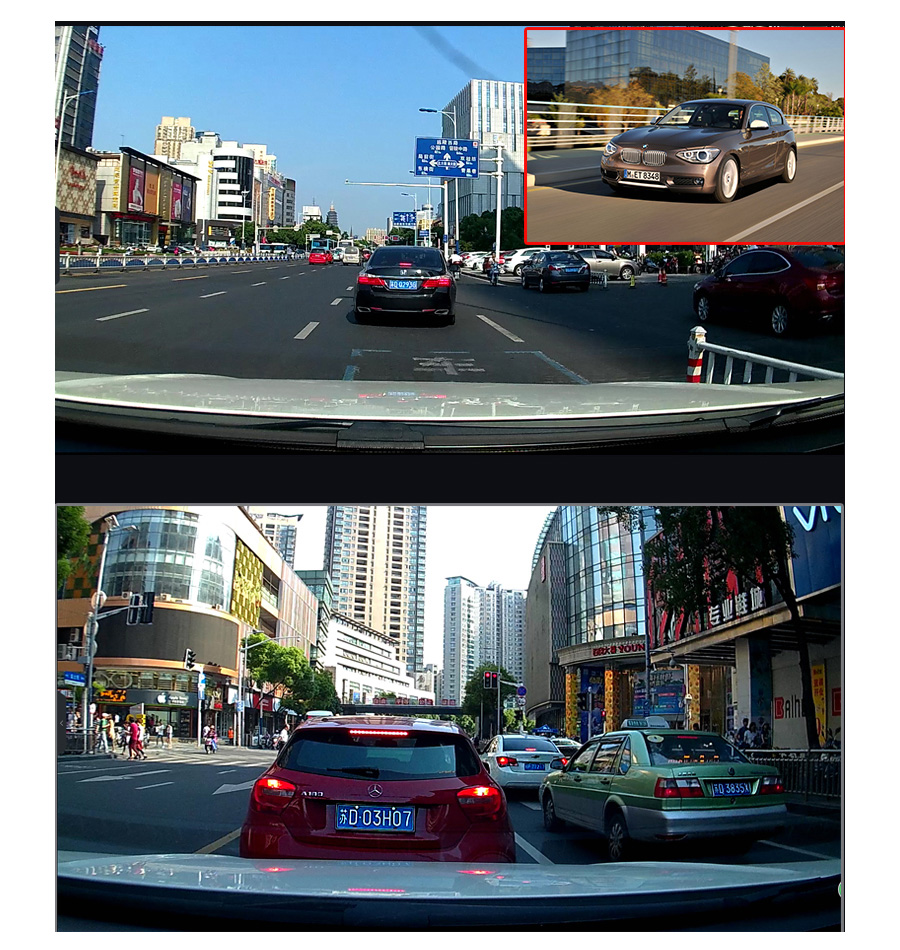 "Junsun 4G ADAS Car DVR Camera Digital Video recorder mirror 7.86"" Android 5.1 with two cameras dash cam Registrar black box 16GB 16"