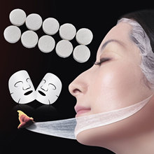 Shellhard 10pcs Compressed Facial Mask Professional Face Cotton DIY Facial Mask for Face Skin Care Tools(China)