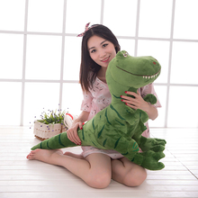 large 80cm cartoon green dinosaur plush toy dinosaur soft throw pillow birthday gift b0709(China)