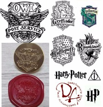 Delicate Sealing Wax Stamp with wooden handle Blessing Twilight Harry Potter Hogwarts school badge wax seal stamp with handle(China)