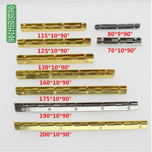 150mm 160mm175mm 200mm Hinge 8 small hole piano hinge With screws Long Metal Hinge Wooden Gift Box(China)
