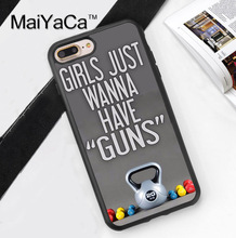 Gym Girl Fitness Training Funny Quote Phone Case Skin For iPhone 6 6S Plus 7 7 Plus 5 5S 5C SE 4S Rubber Soft Cell Housing Cover