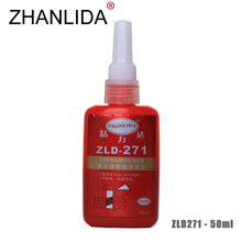 ZHANLIDA 271 50ML Screw Glue Anaerobic Glue Anti Rust High Strength Permanently Fixed Locking Agent Adhesive