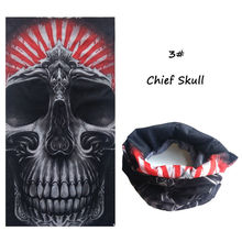 Halloween Head Scarf Skull Mouth Mask Biker Magic Turban Headband Veil Kerchief