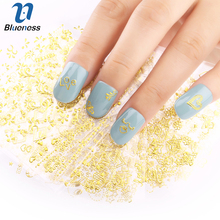 24 Pcs/Lot Silver/Gold 24 Designs Nail Stickers Beauty Glitter 3D Nail Art Bronzing Stamping Diy Decorations For Manicure Nails