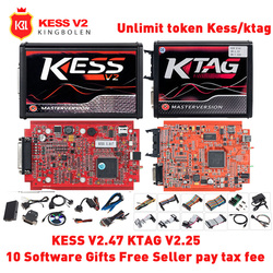 KESS V2 V2.47 V5.017 ЕС красный OBD2 менеджер Тюнинг Комплект KTAG V2.25 V7.020 4 светодиодный мастер Kessv2 светодиодный программатор BDM K-TAG программатор системн...