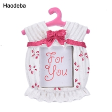 Blue/pink Lovely Bowknot Clothes Shape Photo Frame Europe Style Fashion Ornaments Photo Frames Home Accessories(China)