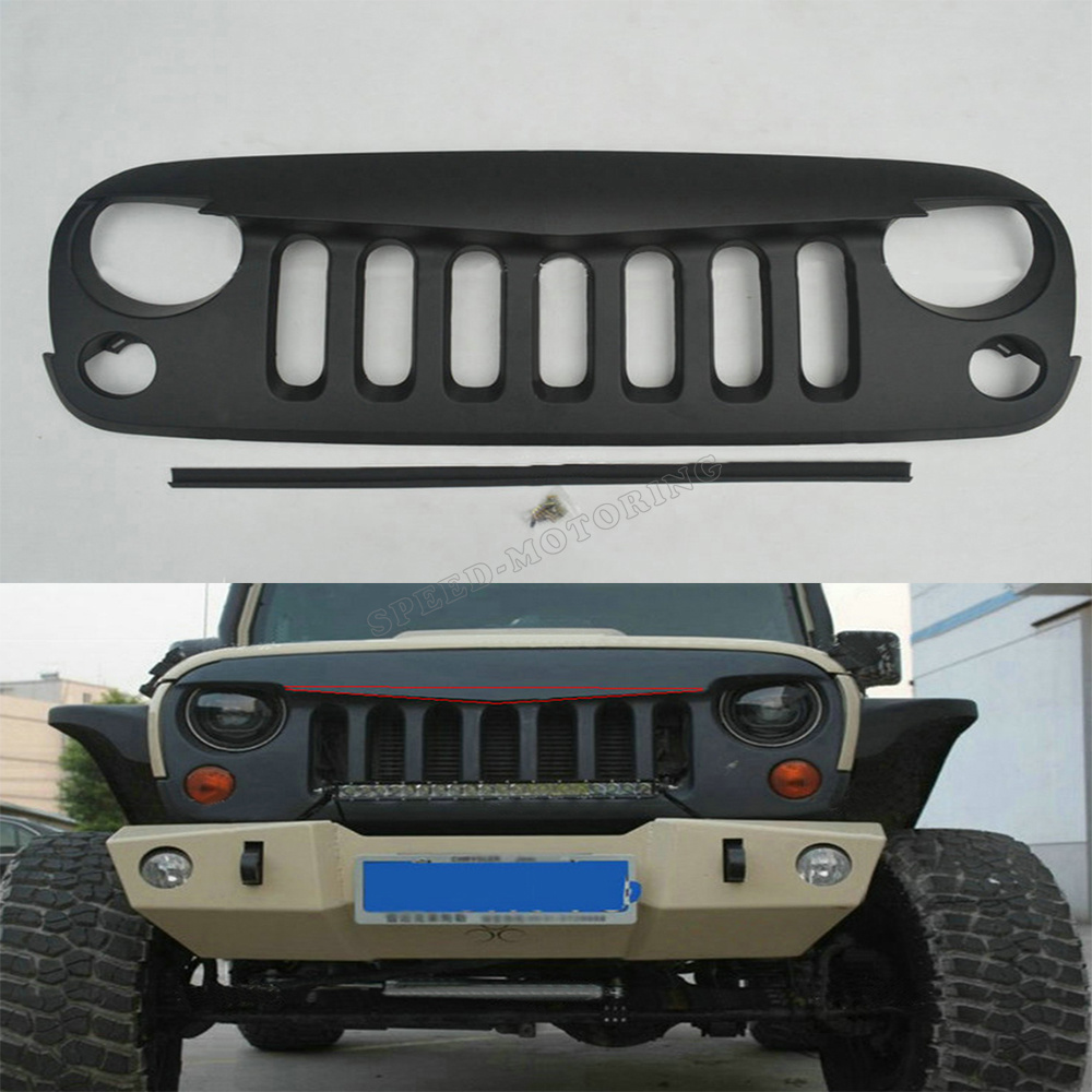 ABS unpainted Auto Car Front Bumper Grill Wrangle For Jeep Wrangle 2011-2014<br><br>Aliexpress
