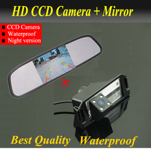 "Full HD 4.3"" car mirror monitor LCD TFT + HD 4 LED CCD Car Reverse Rear View backup Camera rearview For HYUNDAI I30/ KIA SOUL"