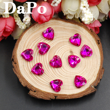 Heart Shape Rhinestones 6mm-27mm Glass Point Back Glass Crystal Rose Color Fancy Stone For Wedding Dress Women Bags